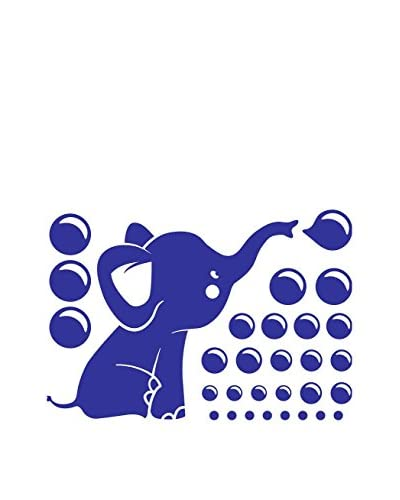 Ambiance Live Wall Decal Little Blue Elephant En Bellen