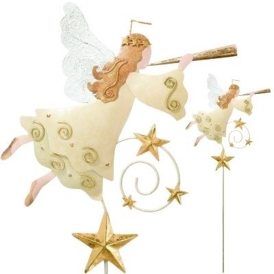 Jiggle Garden Stake - Angel - by Regal Gift