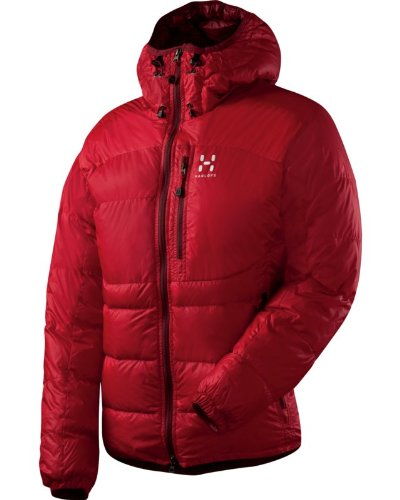 HAGLÖFS Damen-Jacke - BELAY Q DOWN HOOD - S - Deep Red