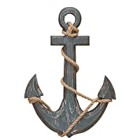 18″ Wood Anchor with Crossbar Boat Decor