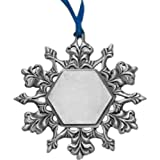 Snowflake Pewter Finish Ornament Trade Show Giveaway