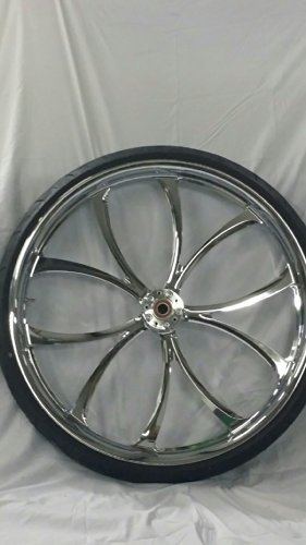 HARLEY DAVIDSON 30x4 CHROME PERFORMANCE MACHINE LUXE WHEEL AND 30