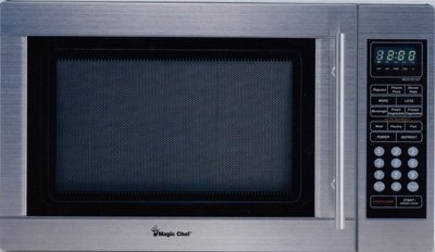 MAGIC CHEF MCD1311ST 1.3 Cubic-ft, 1,100-Watt Microwave with Digital Touch (Stainless Steel) by Magic Chef