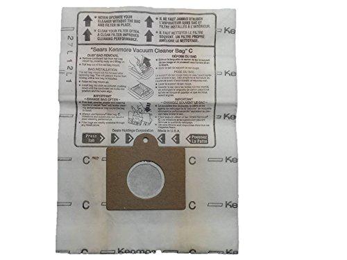 Genuine Kenmore C Vacuum Bags Replaces 5055 50558 50557 Panasonic C-5 (20) (Kenmore Whispertone Vacuum Bags compare prices)