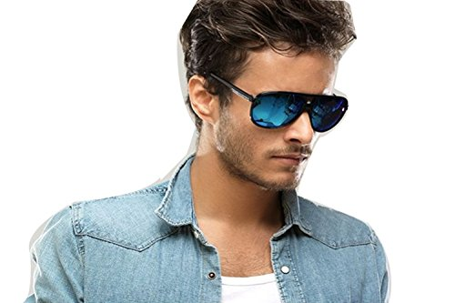 Darkey Wang Fashion New Couple Models UV Neutral Color Deep Blue Sunglasses (Mk Ii Snes compare prices)