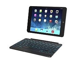 ZAGG Cover, Hinged with Blacklit Keyboard for iPad mini/ iPad mini Retina - Space Grey