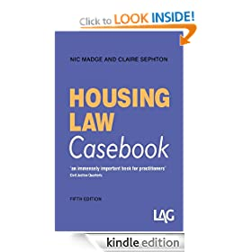 Housing Law Casebook 5th edition