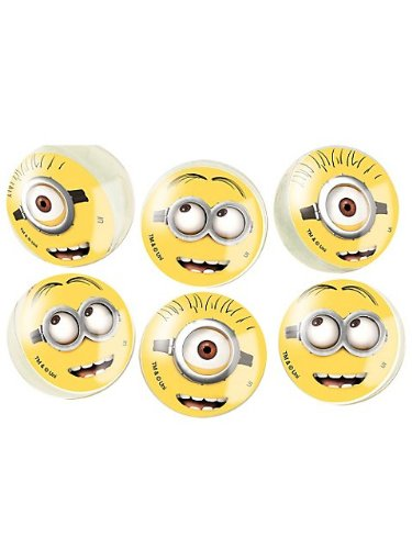 Unique Party Supplies - Despicable ME2 -6 Bounce Favor Balls