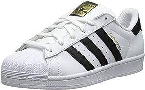 adidas Originals Women's Superstar Foundation Casual Sneaker, White/Black/White, 7.5 M US