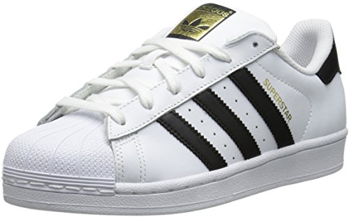 Adidas Originals Women's Superstar Foundation Casual Sneaker, White/Black/White, 8 M US