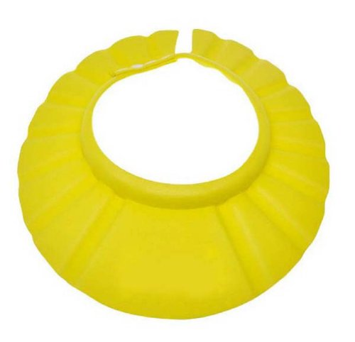Amcctvshop Safe Shampoo Shower Bathing Bath Protect Soft Cap Hat For Baby Children Kids (Yellow)