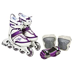 K2 SPORTS Junior Annika Skates with Elbow and Wrist Pads (11-2)