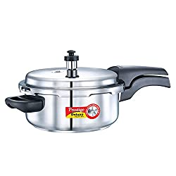 Prestige Deluxe Alpha Outer Lid Stainless Steel Pressure Cooker, 3 Litres