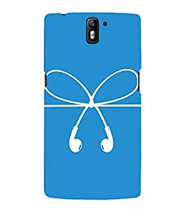 HEADPHONES AND A BOW DESIGN PICTURE 3D Hard Polycarbonate Designer Back Case Cover for One Plus One :: One Plus1 :: OnePlus One