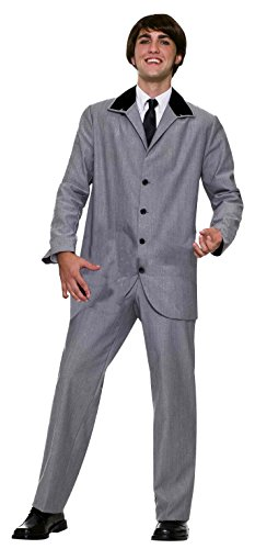 Forum Novelties Men's British Invasion Costume, Gray, Large (British Invasion Jacket compare prices)