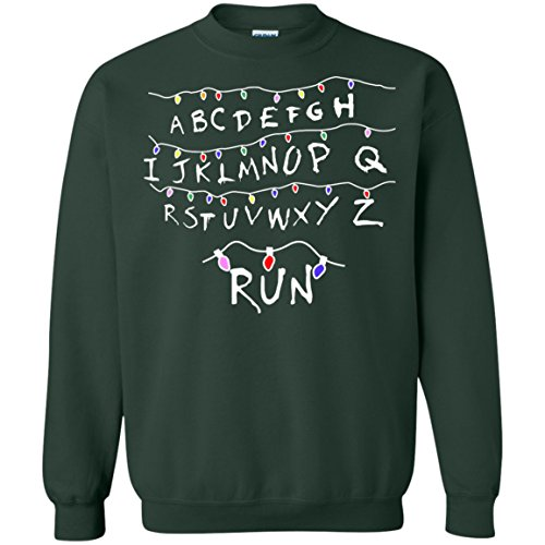 Ugly Stranger Things Light Run Christmas Sweater