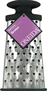 Oneida 9 1/2-Inch Oval Shaped Multi Purpose Grater, Mirror Polished Stainless Steel