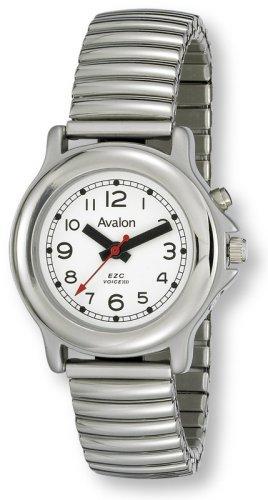 Avalon EZC Women's Silver-Tone Low-Vision 1-Button Silver-Tone Talking Watch # 2609L-1B