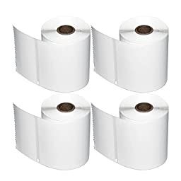 MFLABEL Dymo LabelWriter 4XL Compatible 1744907 Shipping & Postage Labels 220 Labels per Roll (BPA Free) (4 Rolls)