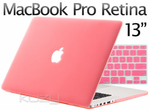 =>>  Kuzy - 2in1 Retina 13-Inch PINK Rubberized Hard Case and Keyboard Cover for Apple MacBook Pro 13.3