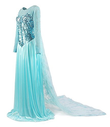 Eyekepper Sequins Snow Queen Elsa Costume Adult Princess Dress
