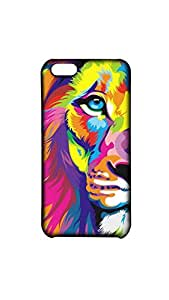Half Face Of Lion Mobile Back Case/Cover For Apple iPhone 5C