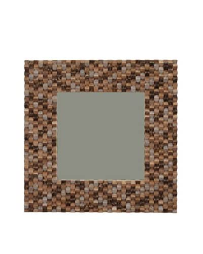 Jeffan Terrace Wood Mosaic Mirror, Natural