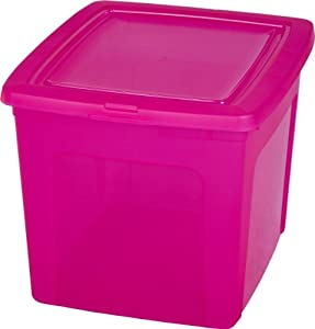 storage box stackable storage boxes pink toolbox plastic storage box with lid 30 litre. Black Bedroom Furniture Sets. Home Design Ideas