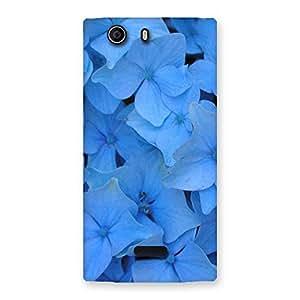 Impressive Blue Flower Bush Back Case Cover for Canvas Nitro 2 E311