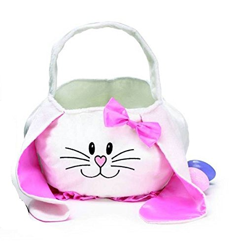 Burton & Burton White Girl Bunny Face Basket Bag for Easter - 1