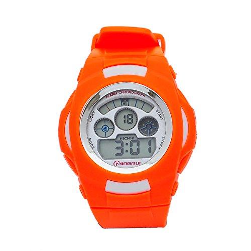 8Years- 1 Stueck Digitaluhr Armbanduhr Stoppuhr Watch Outdoor Wasserdicht Orange