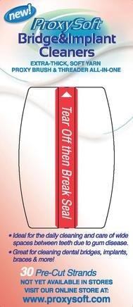 ProxySoft Bridge & Implant Cleaners (Thorntons) - 30 Dental Floss, 2 Packs