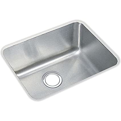 Elkay ELUH1814 Gourmet 16-1/2-Inch x 20-1/2-Inch Single Basin Undermount Stainless Steel Kitchen Sink