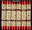 "6 x 13"" Robin Reed Racing Reindeer Clockwork Christmas Crackers"