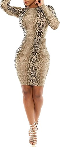 EUDORA Women's Vintage Printed Bandage Shapewear Clubwear Party Bodycon Dress