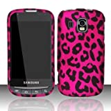 Samsung Transform Ultra M930 Accessory -Hot Pink Leopard Spot Skin Design Protective Hard Case Cover for Sprint / Boost Mobile