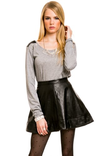 Studded Shoulder Longsleeve in Grey