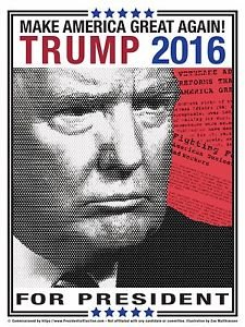 Donald Trump 2016 Campaign Poster that measures 18x24 - New
