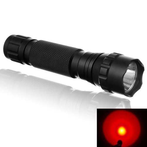 Windfire® Wf-501B Cree Q5 Single - Mode 200 Lumen 3W Purple Uv Ultraviolet Led Flashlight Torch White / Red / Purple Led Flashlight For Camping, Hiking (Purple Light)