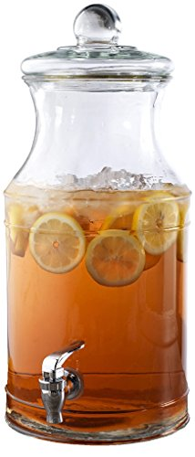 Circleware Country Glass Beverage Drink Dispenser with Glass Lid/handle and Chrome Finished Spout/spigot, 1.5 Gallon, Limited Edition Glassware Drinkware (Drink Dispensers With Glasses compare prices)