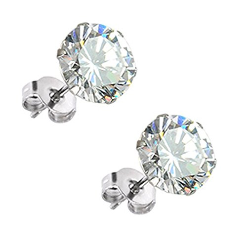 diamante-solitario-orecchini-placcato-platino