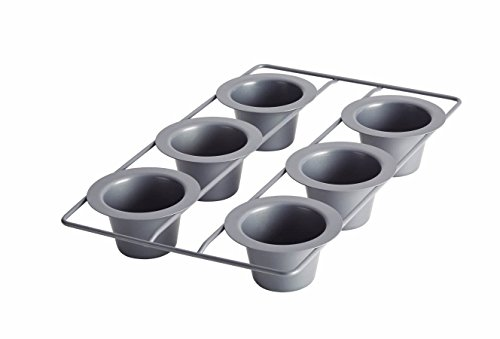 Anolon Advanced Nonstick Bakeware 6-Cup Popover Pan, Gray