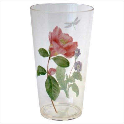 Corelle Coordinates Camellia 19 Ounce Acrylic Glasses, Set of 6