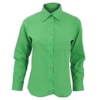 Sols womens ladies executive long sleeve poplin work shirt for Apple green dress shirt