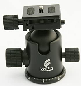 Pro Heavy Duty Ball Head Quick Release Photo Ball Head Tripod Grip Action Ball Head for Gitzo Manfroto by Fancier 6664H