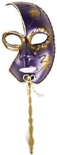 Hochwertige Halb-Gesicht-Maske! Mit Stab! Verschiedene Farben!: Farbe: blau-hell