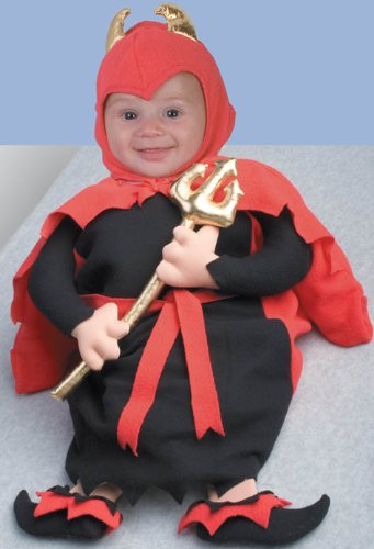 Adorable Lil Devil Bunting Deluxe Infant Halloween Costume Size 0-6mo. - 1