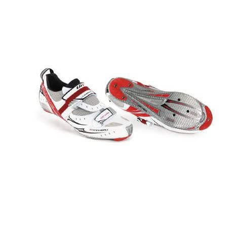 Louis Garneau 2011/12 Carbon Tri HRS Air Trithlon Cycling Shoes - White - 1487065-019