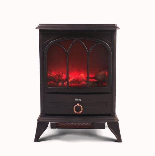 Kenley Chimenea Electrica - Efecto Estufa de Le�a Ardiendo - Calefactor con Termostato - 1000W/2000W