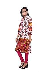 KIMYRAA Women's Cotton Kurta (KLK-1015-PINK-XXL)